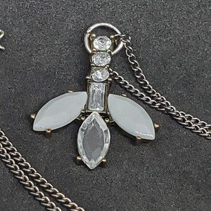 Tony Alexander Gun Metal Necklace Leaf Pendant